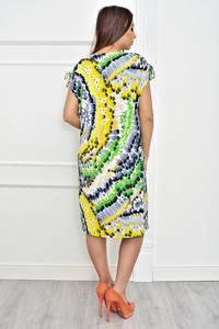 Платье короткое с принтом летнее Т4245