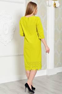 Платье длинное вечернее желтое Р3288
