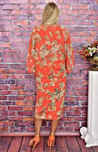 Платье длинное летнее с принтом Т5883