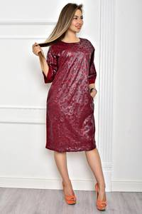 Платье короткое однотонное элегантное Т2062