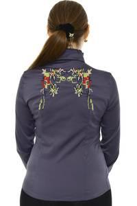 Рубашка с кружевом с длинным рукавом Н8329