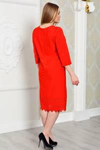 Платье длинное вечернее красное Р3290