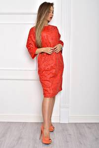Платье короткое однотонное элегантное Т2063