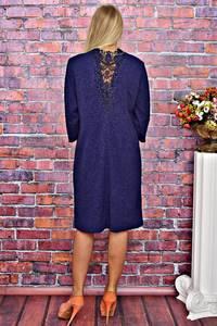 Платье короткое деловое с кружевом Т5884