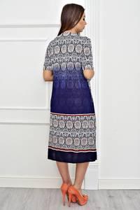 Платье длинное повседневное с принтом Т4247