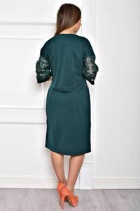Платье короткое однотонное элегантное Т2064