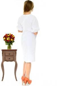 Платье короткое элегантное белое П2912