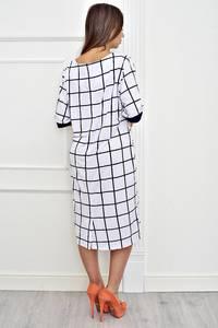 Платье длинное офисное нарядное Т4248