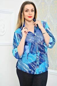 Рубашка с принтом с коротким рукавом П9784