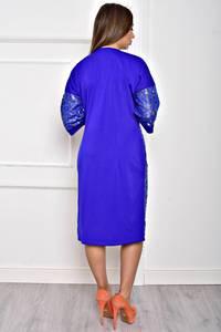 Платье короткое однотонное элегантное Т2065