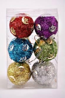 Новогодние шары 6 шт. Е4177