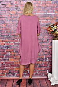 Платье короткое однотонное повседневное Т5887