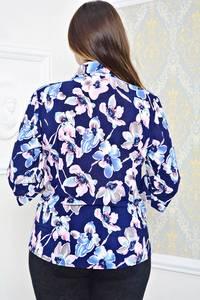 Рубашка синяя с принтом П9785