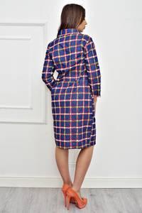 Платье короткое с рукавом 3/4 с принтом Т4250