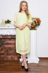 Платье длинное вечернее с кружевом Р7692