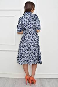 Платье короткое коктейльное с принтом Т4251