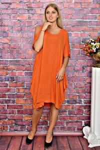 Платье короткое однотонное повседневное Т5890