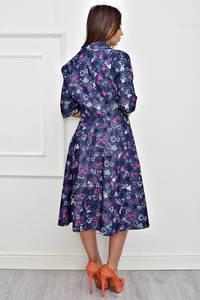 Платье короткое коктейльное с принтом Т4252