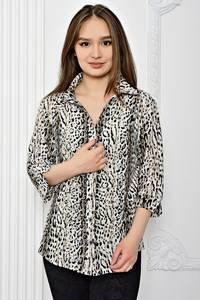 Рубашка с принтом с коротким рукавом Т0400