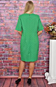 Платье короткое однотонное деловое Т5891