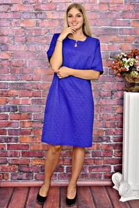 Платье короткое однотонное деловое Т5892