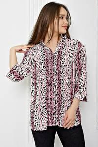 Рубашка с принтом с коротким рукавом Т0401