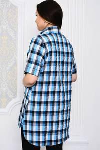 Рубашка в клетку с коротким рукавом Р4099