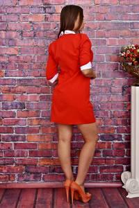 Платье короткое облегающее красное Т4254