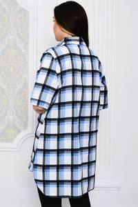 Рубашка в клетку с коротким рукавом Р4100