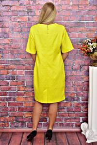 Платье короткое однотонное деловое Т5893