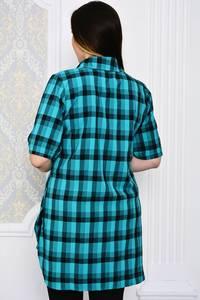 Рубашка в клетку с коротким рукавом Р4101