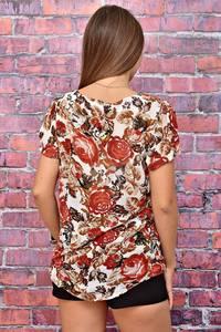 Блуза летняя с коротким рукавом У7980