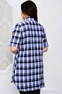 Рубашка в клетку с коротким рукавом Р4103