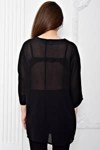 Блуза черная летняя Т0405