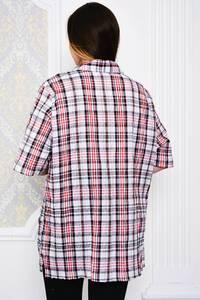 Рубашка в клетку с коротким рукавом Р4104