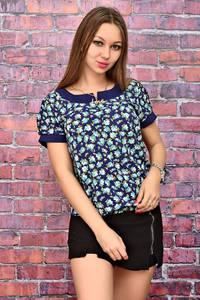 Блуза летняя с коротким рукавом У7983