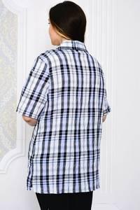 Рубашка в клетку с коротким рукавом Р4105