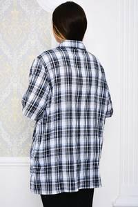Рубашка в клетку с коротким рукавом Р4107