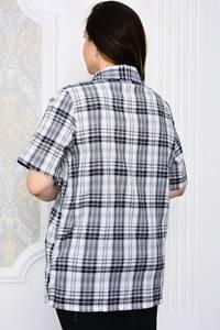 Рубашка в клетку с коротким рукавом Р4108