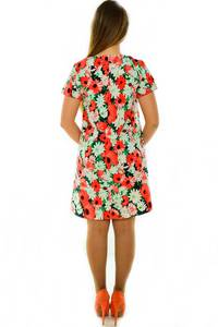 Платье-туника короткое с коротким рукавом нарядное Н3680