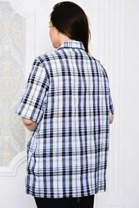 Рубашка в клетку с коротким рукавом Р4109