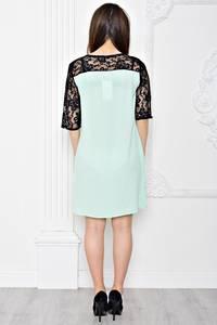 Платье короткое вечернее с кружевом Т0411