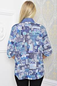 Рубашка синяя с коротким рукавом Т1214