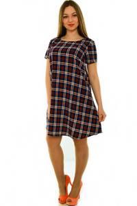 Платье-туника короткое офисное трикотажное Н3681
