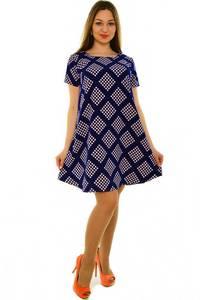 Платье-туника короткое с принтом повседневное Н3682