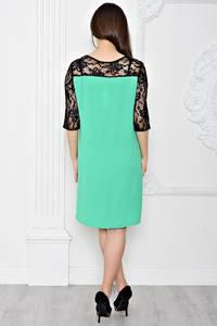 Платье короткое вечернее с кружевом Т0413