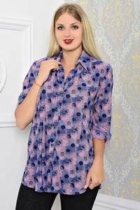 Рубашка синяя с принтом Т1208