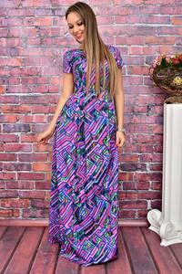 Платье длинное с принтом нарядное У7992