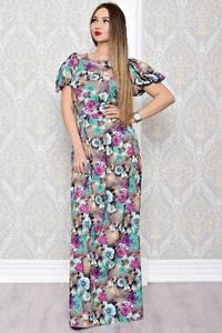 Платье длинное нарядное с принтом С8176