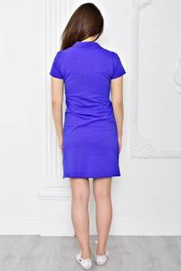 Платье короткое повседневное из хлопка Т0358